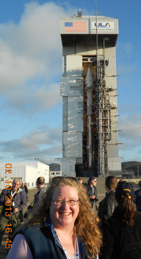 ULA's Atlas 5 at SLC3 Preparing for Launch the Next Day.